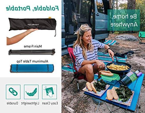 Trekology Portable Camping Side Tables Top: in Picnic, Beach, Useful for Dining Cooking to Clean