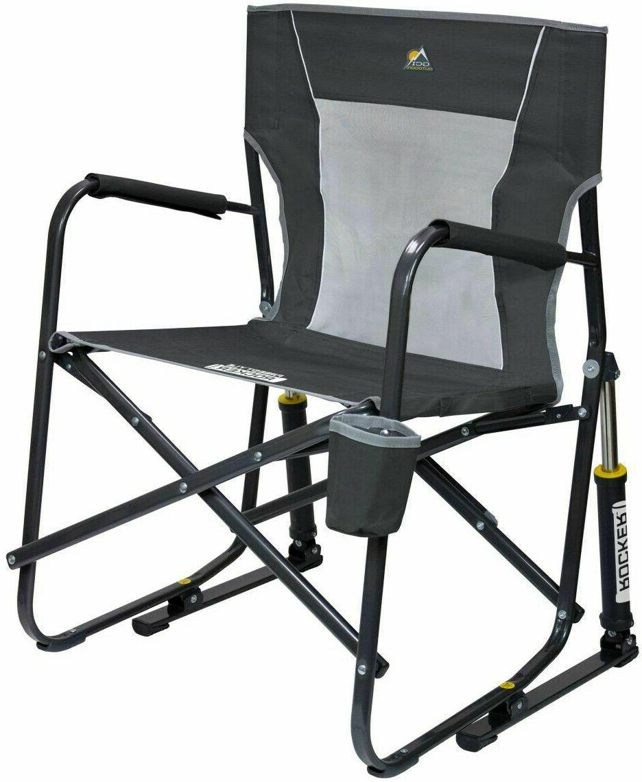 Rocker Mesh Chair Outdoor Camping Freestyle Portable Foldabl