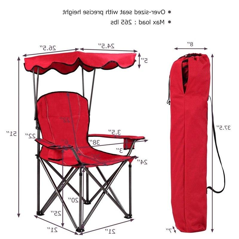 Portable Beach <font><b>Chair</b></font> with Cup Holders <font><b>Camping</b></font> OP3640RE