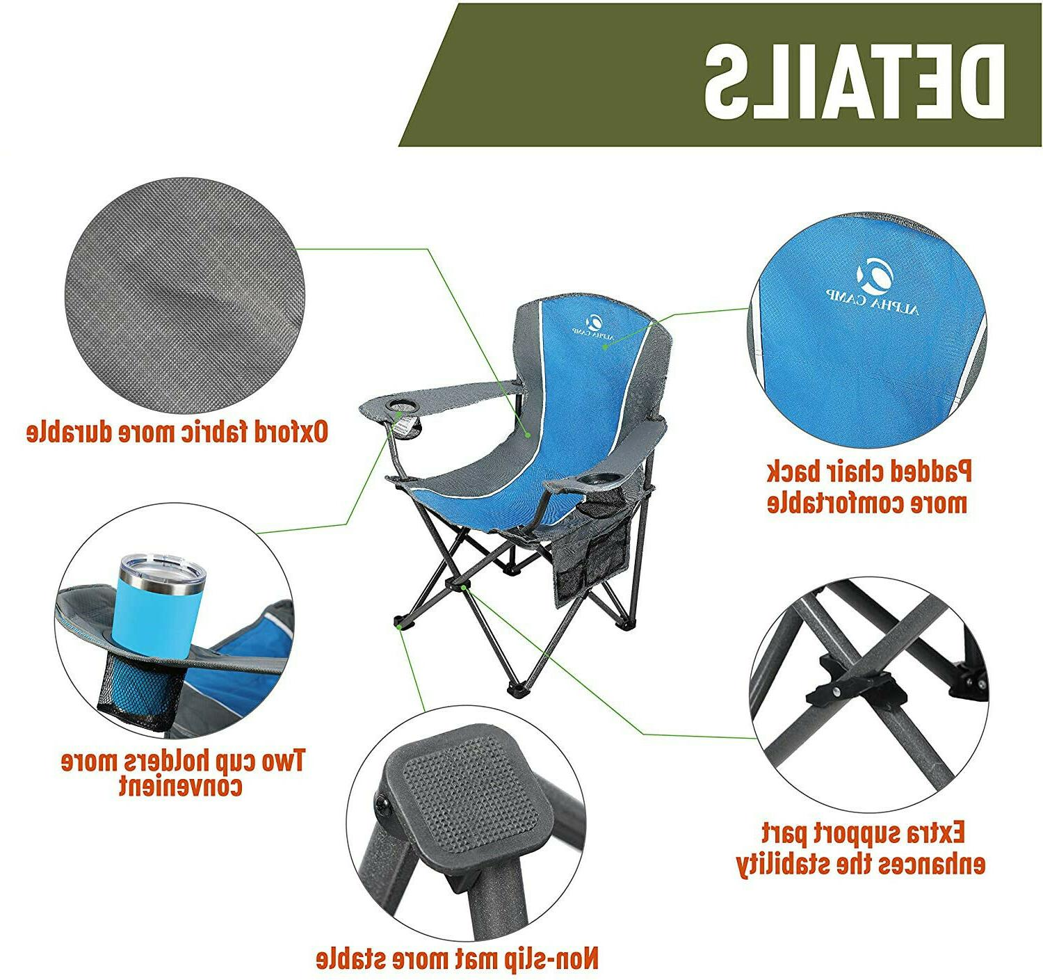 Portable Heavy Duty Outdoor Picnic Chairs,