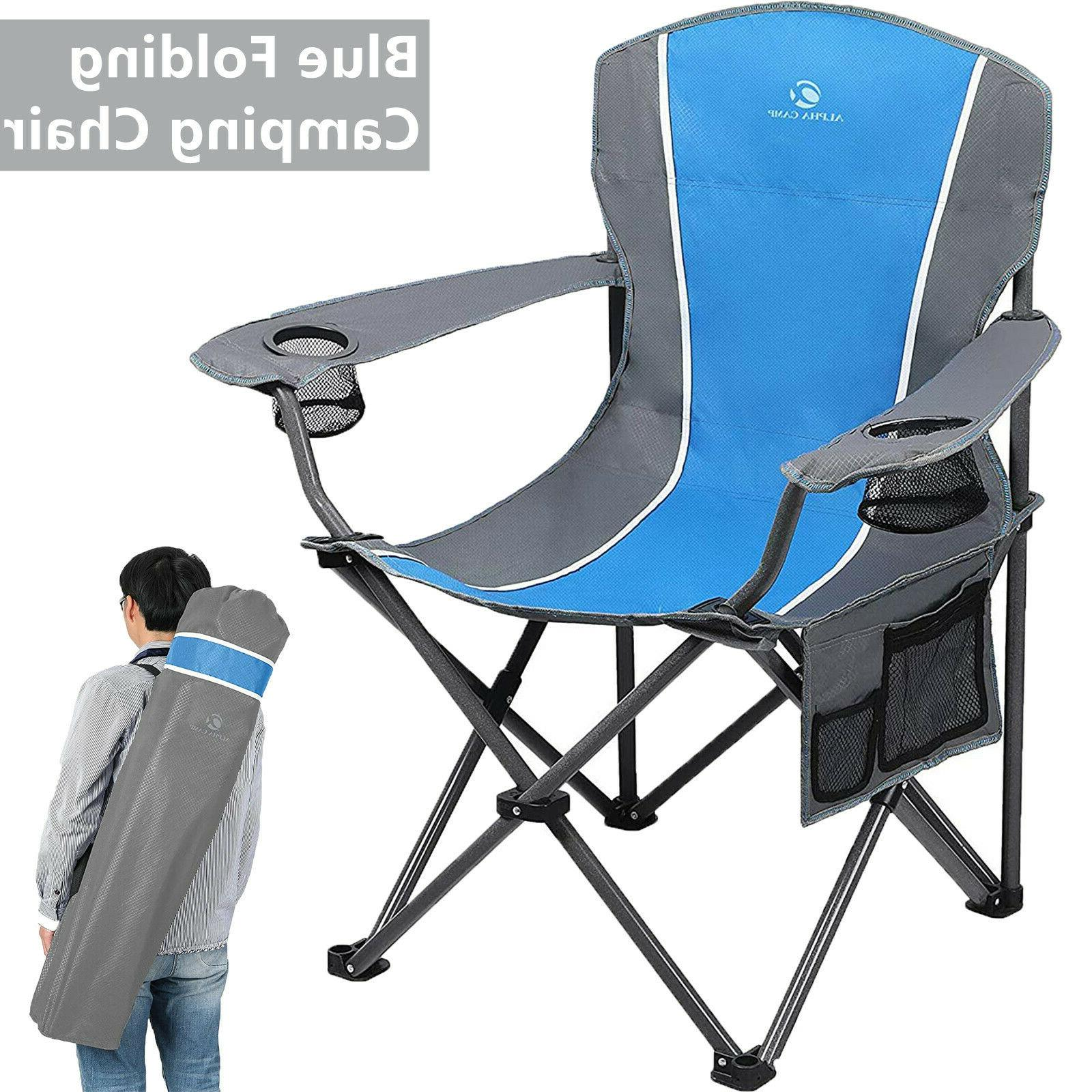 portable folding camping chair heavy duty outdoor