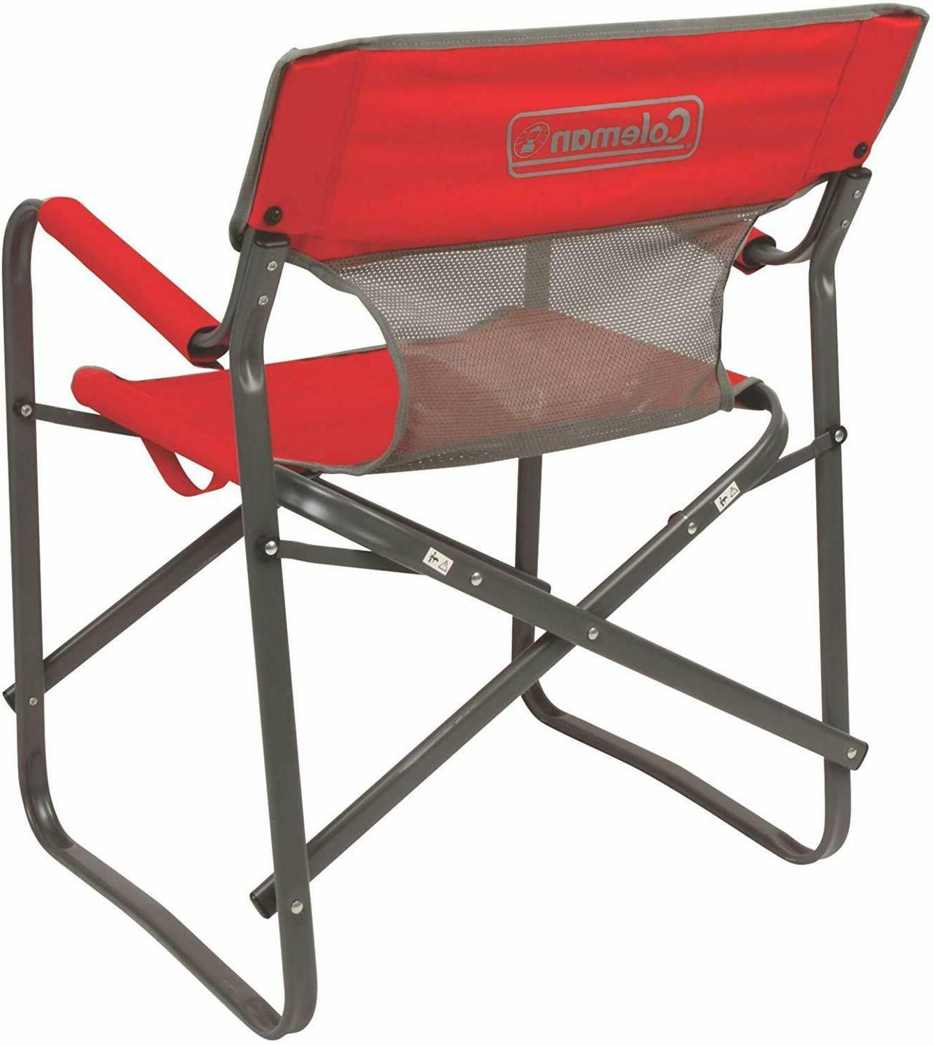 Portable Folding Camping Chair Outdoor Director Oversized Deck