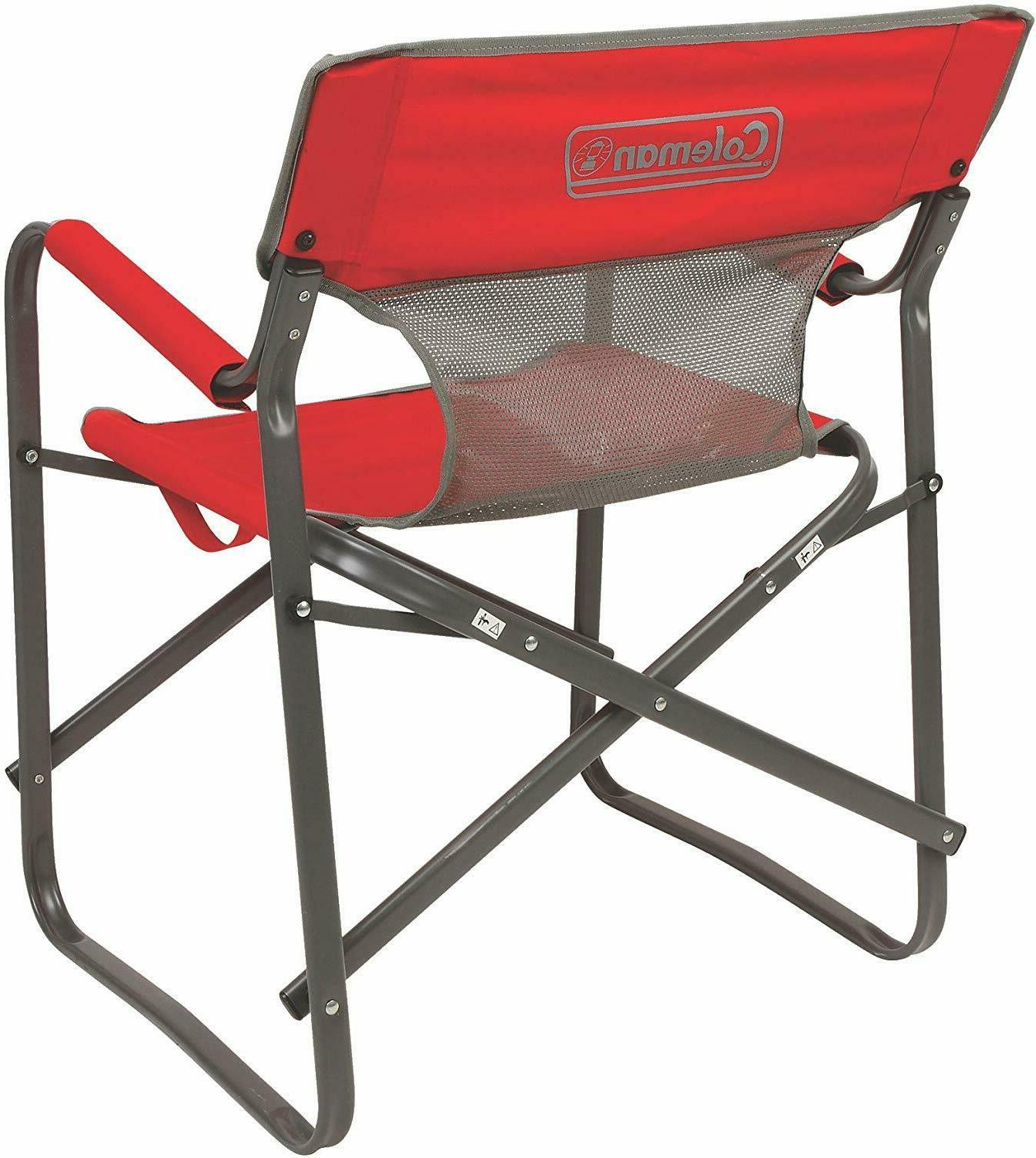 Portable Camping Chair Outdoor Director Heavy Oversized Deck