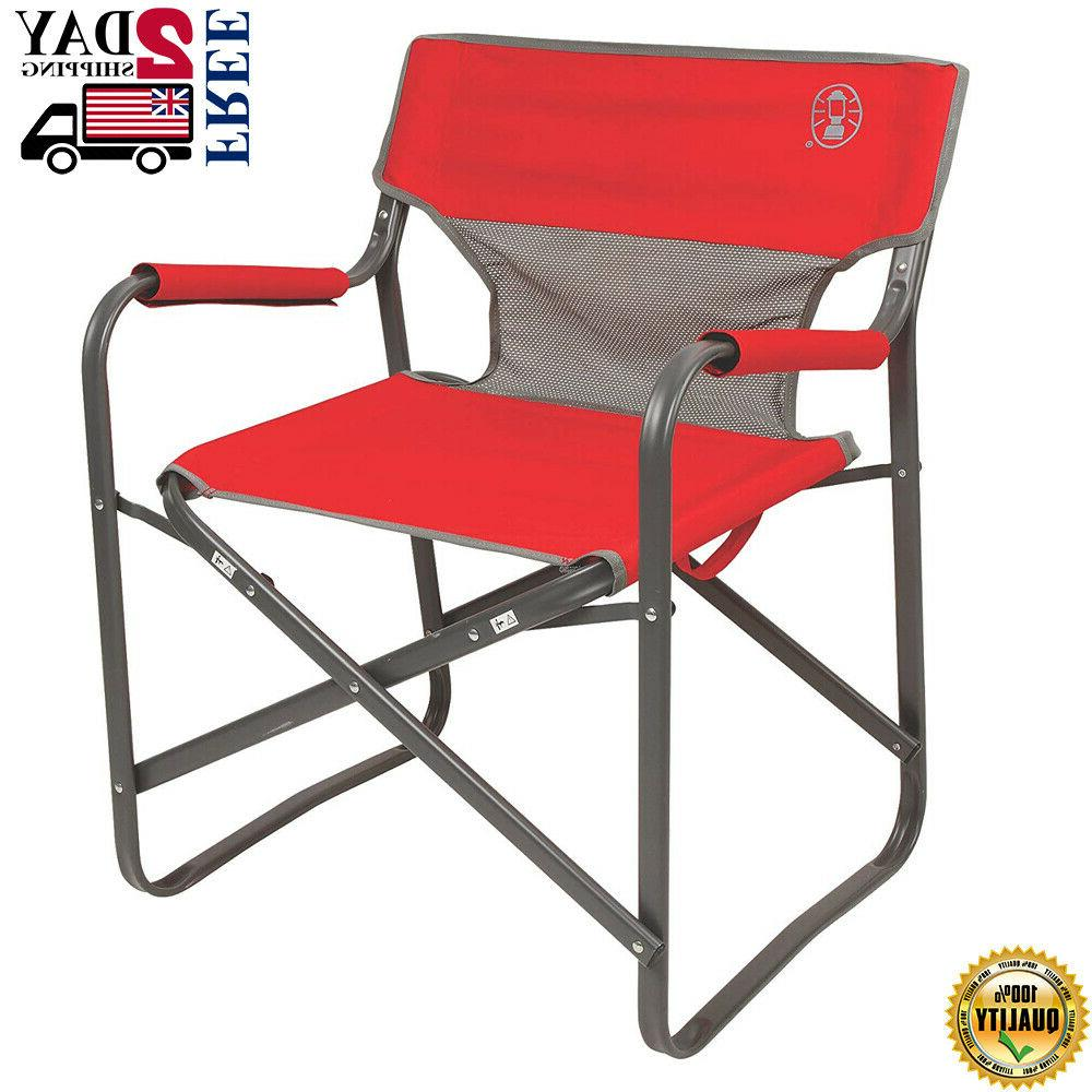 portable folding camping chair outdoor director heavy