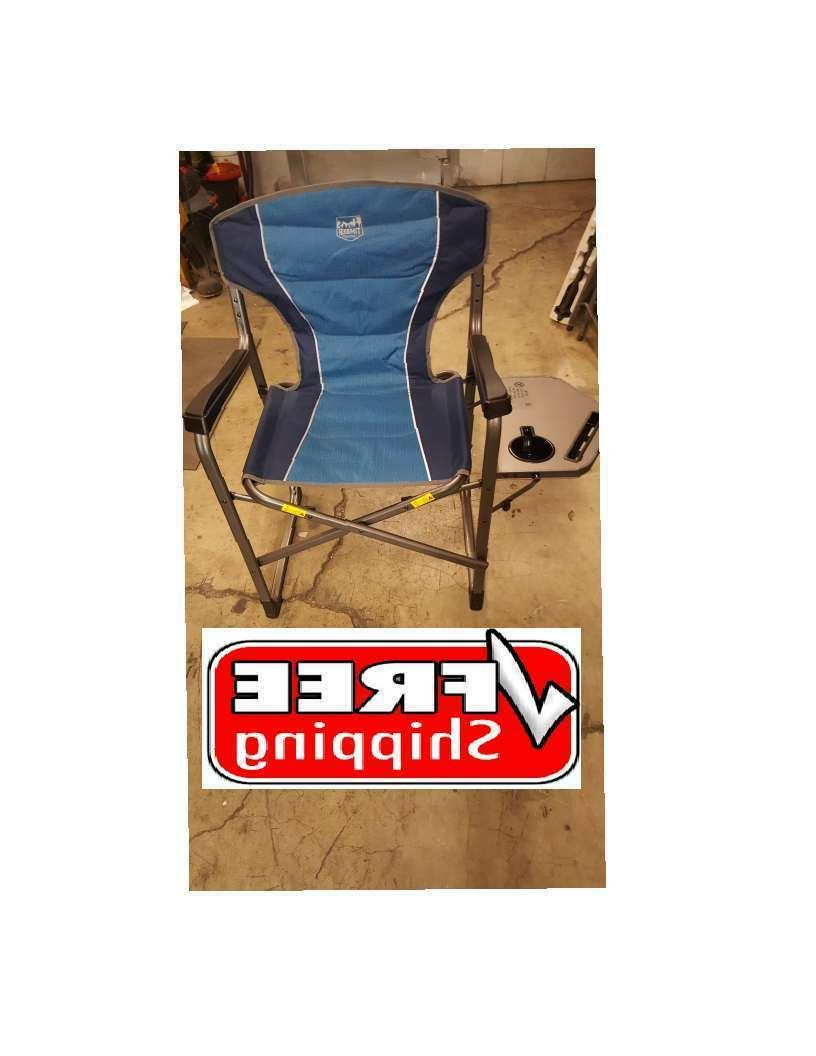 Timber Ridge Portable Folding Camping Chair with Side Table