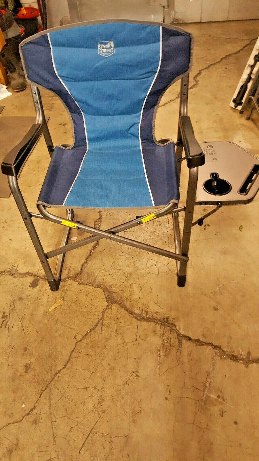 Timber Portable Folding Camping Directors Side