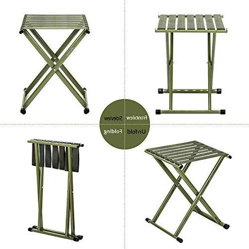 TRIPLE Portable Stool, Duty Folding Hold lbs, Unfold 13.9 x14.3 Pack of One