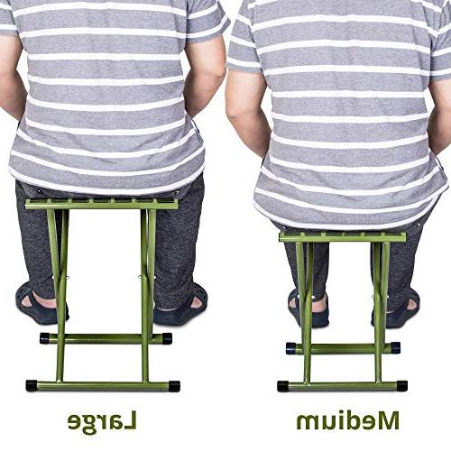 TRIPLE Portable Folding Stool, Strong Duty Chair Hold up to lbs, Size x14.3 Inch of One