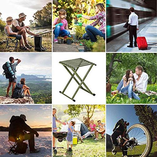 TRIPLE TREE Portable Stool, Strong Duty Outdoor Hold to x14.3 x17.8