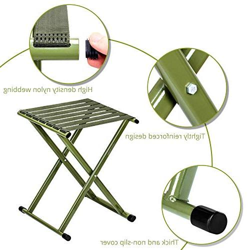 TRIPLE Portable Stool, Super Duty Outdoor Hold to lbs, Size 13.9 x14.3 of One