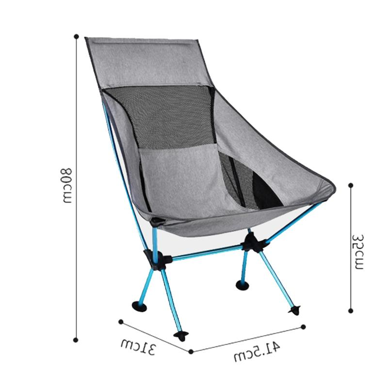 Portable Gray Fishing Extended Hiking Seat Light Outdoor <font><b>Chair</b></font>