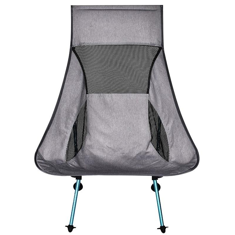 Portable Gray Fishing Extended Outdoor <font><b>Chair</b></font> Home