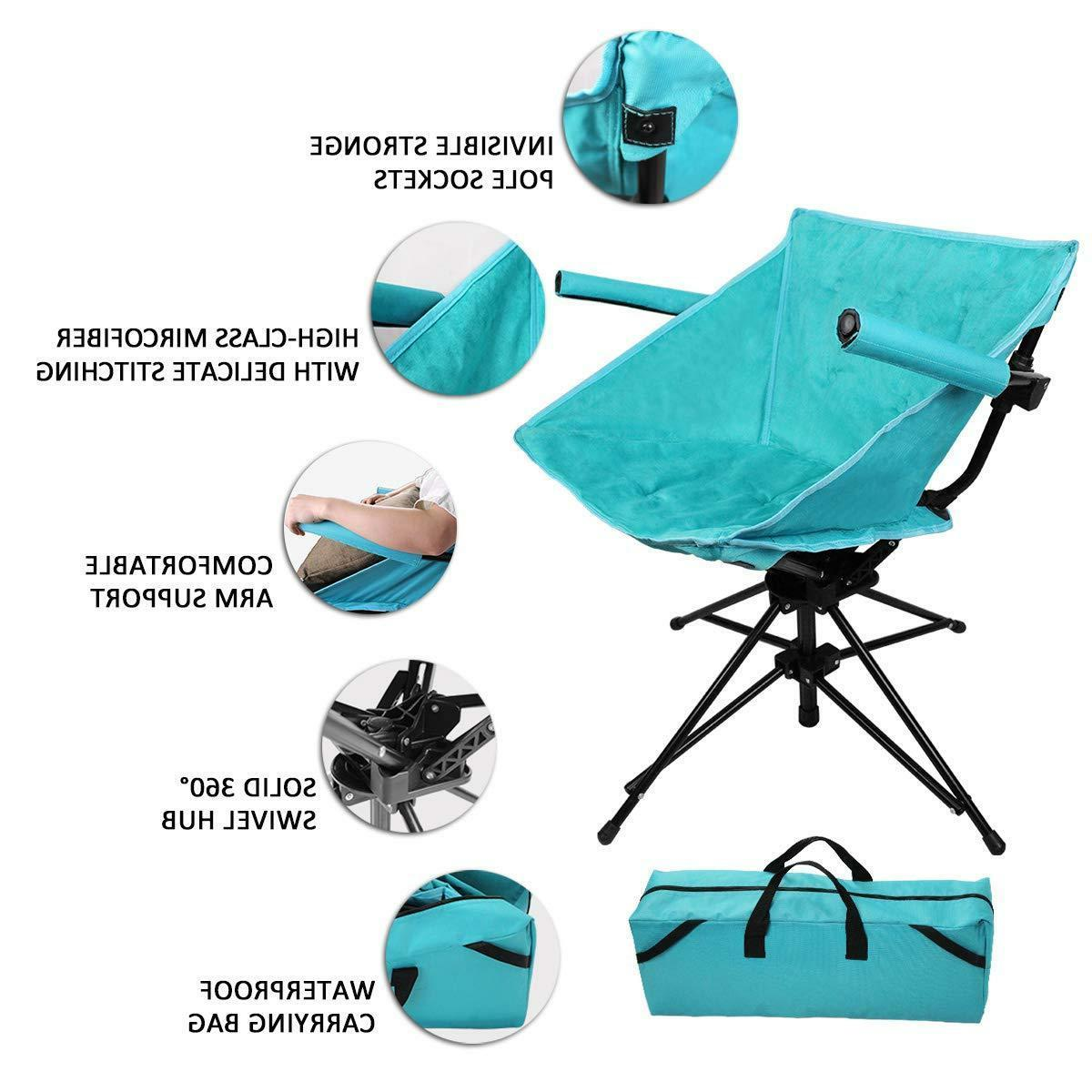 Swivel Hunting Camping Folding Ergonomic Padded Microfiber Seat