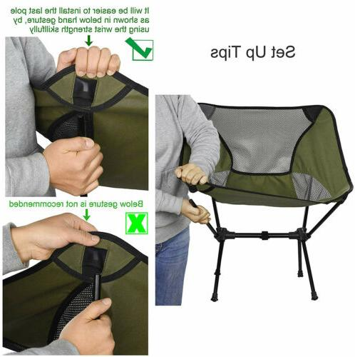 Portable Ultralight Camping Chair Camp Compact Travel Beach Stoo