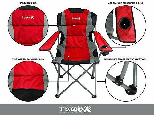 GigaTent Red Folding Camping Chair Ultra Collapsible