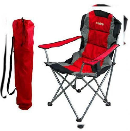 red folding camping chair ultra lightweight collapsible
