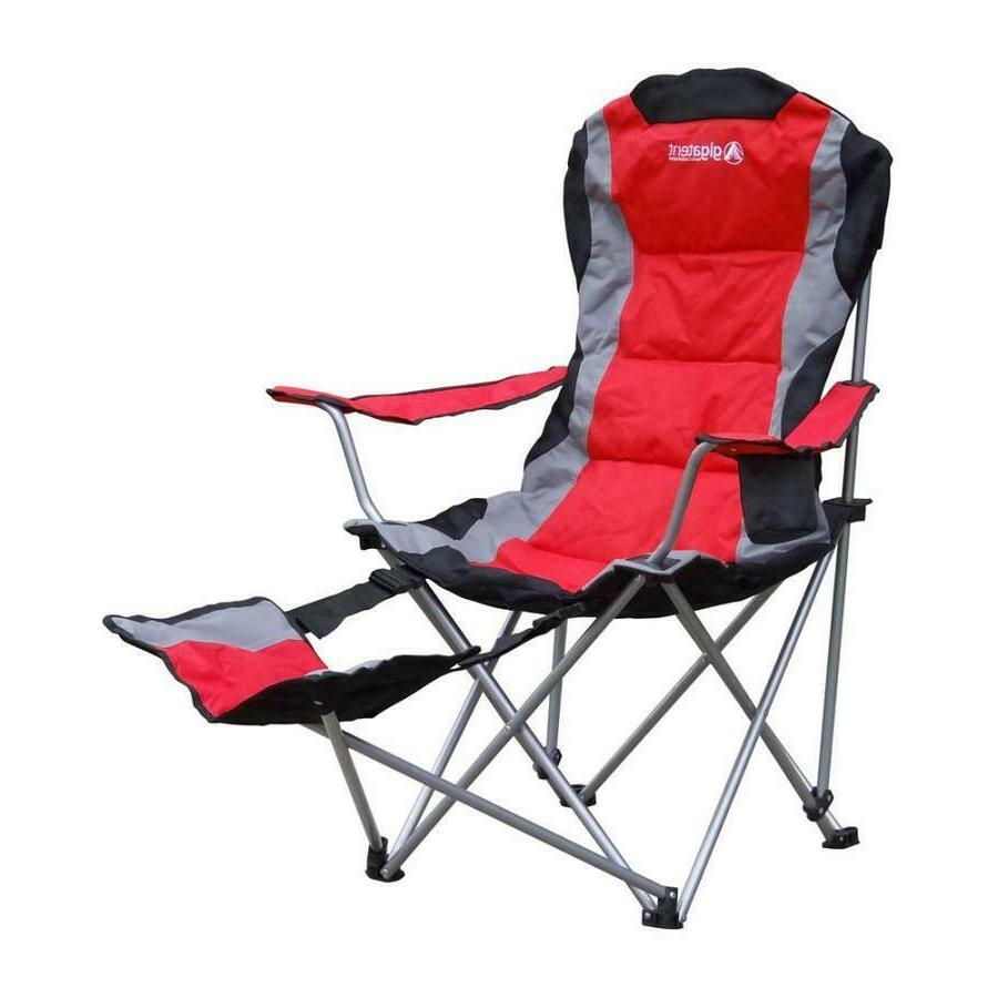 red steel folding camping chair