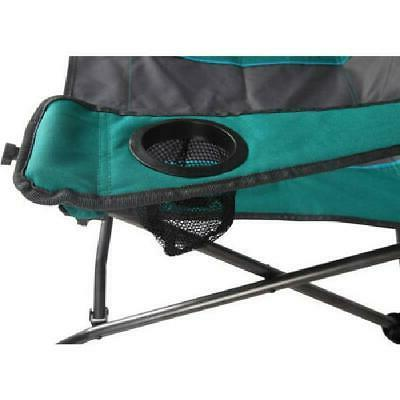 Rocking Portable Folding Chair Built Cup Camping Beach