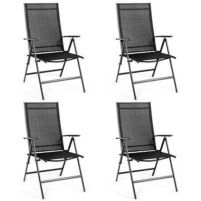 set of 4 patio folding dining chair
