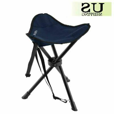 Blue Camping Fishing Travel Foldable Tripod Folding Seat Sto