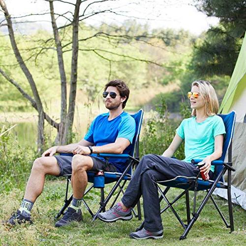 Timber Ridge Camping Ergonomic 300lbs with Folding Chair Outdoor Heavy Cup