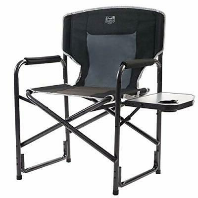 Timber Ridge Director's Chair Folding Aluminum Camping Porta