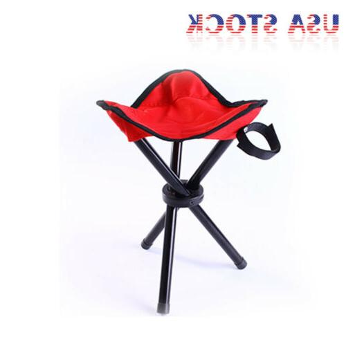 Travel Chair Tripod Camping Stool Seat Hiking Outdoor