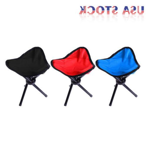 travel slacker chair folding tripod camping stool