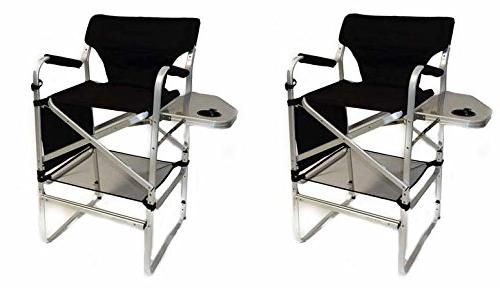 two tall directors chair table