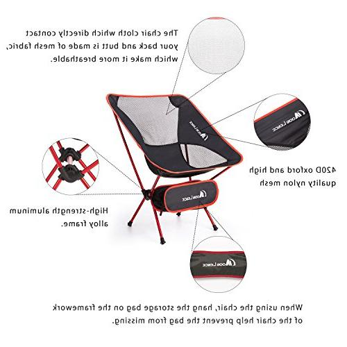 MOON Ultralight Chairs Folddable Backpacking Chairs Carry Bag