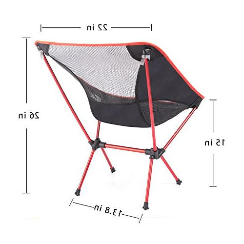 MOON LENCE Ultralight Chairs Backpacking Beach Chairs with Carry