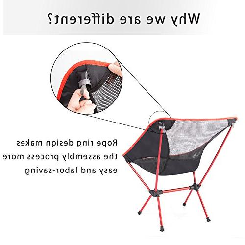 MOON LENCE Ultralight Chairs Folddable Backpacking Chairs with Carry