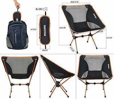 MARCHWAY Camping Chair, Portable Compact Outdoor