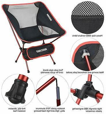 MARCHWAY Ultralight Chair, Portable Compact Outdoor Camp,
