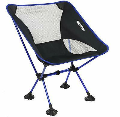 ultralight folding camping chair with large feet