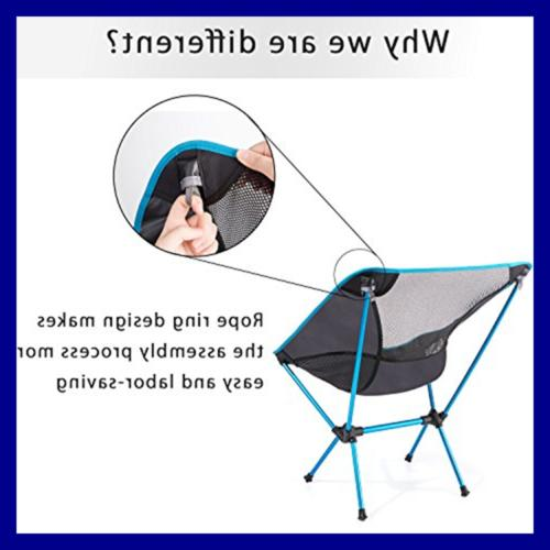 Moon Lence Camping Chairs W Carry Bag BLUE