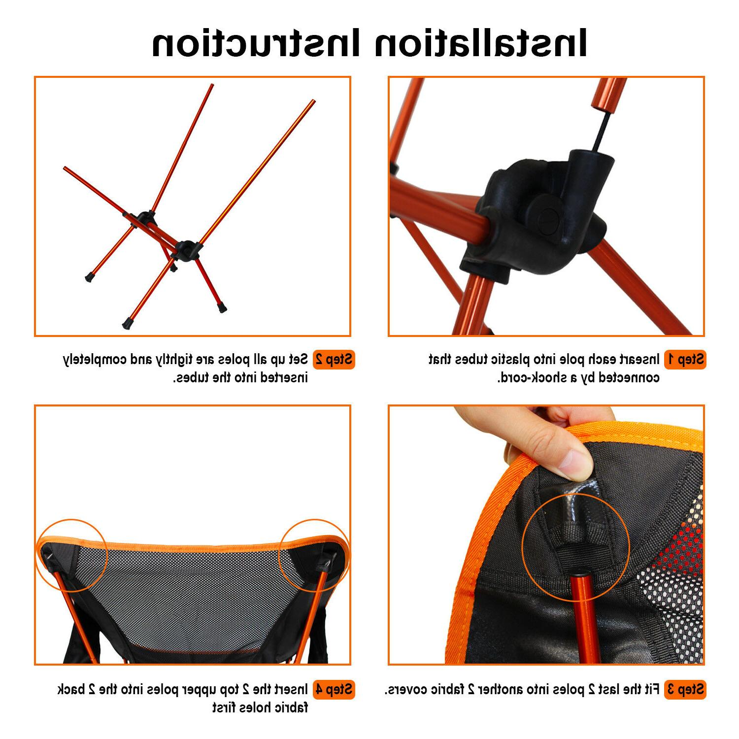 NiceC Portable Backpacking Camping Chair 2