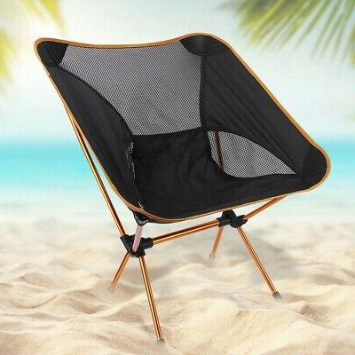 Portable Folding Compact Camping Chair Outdoor Backpack Hiki