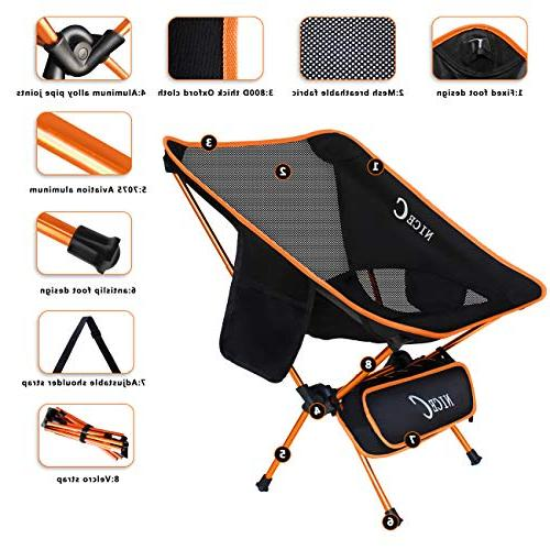 Camping Chair & Duty Outdoor, Camping, BBQ, Picnic, with Storage