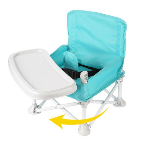 Baby Booster Seat w/ Tray for Baby Folding High for Eating Camping