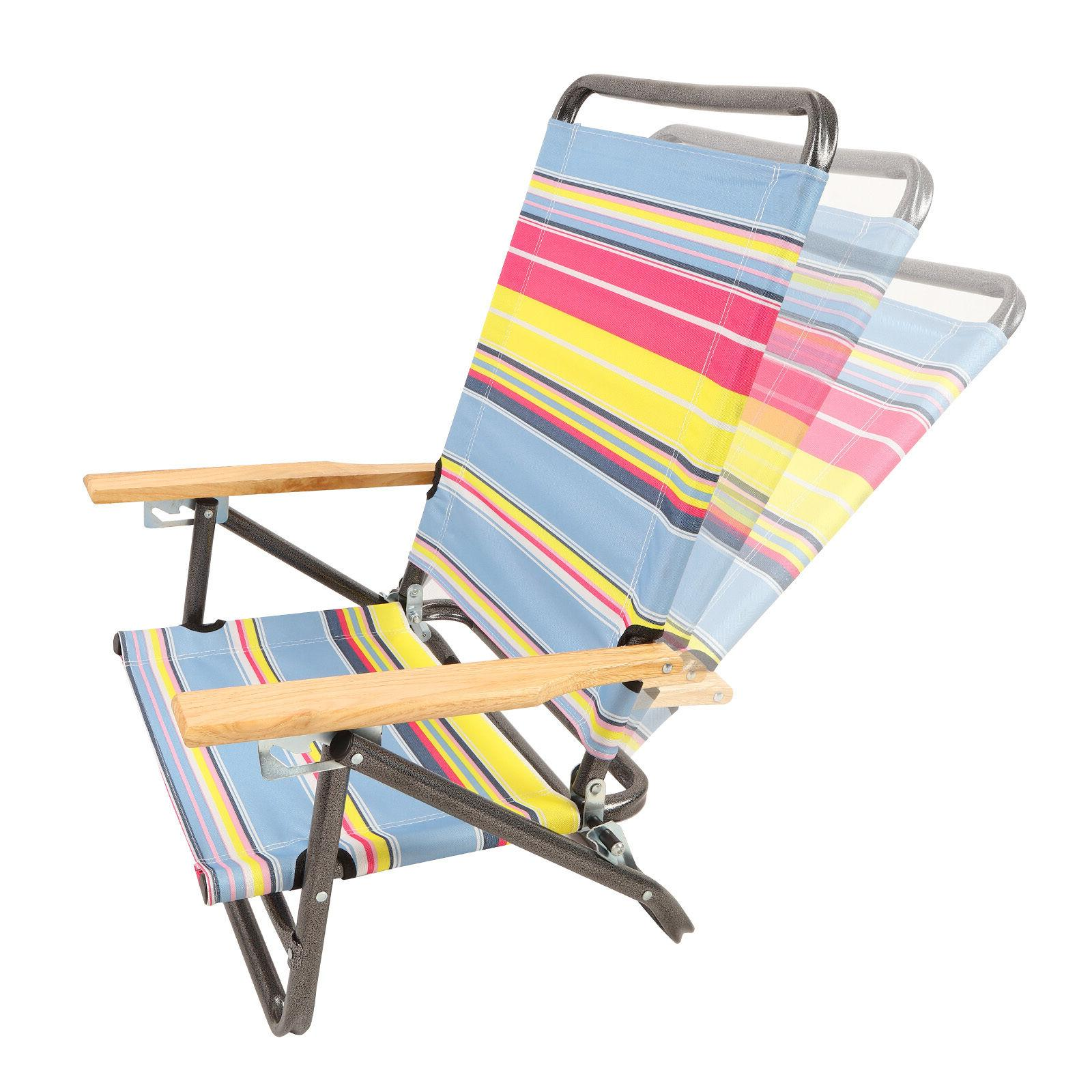 x2 Folding Beach Chair Camping Chair Portable 3-Position