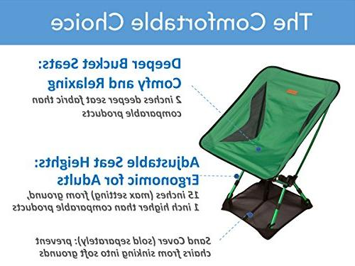 Trekology GO Camping Height Folding Backpacking a Carry Bag, Duty 300 lb for Hiker, Fishing, Outdoor