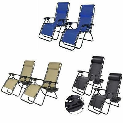 zero gravity chairs case of 2 lounge