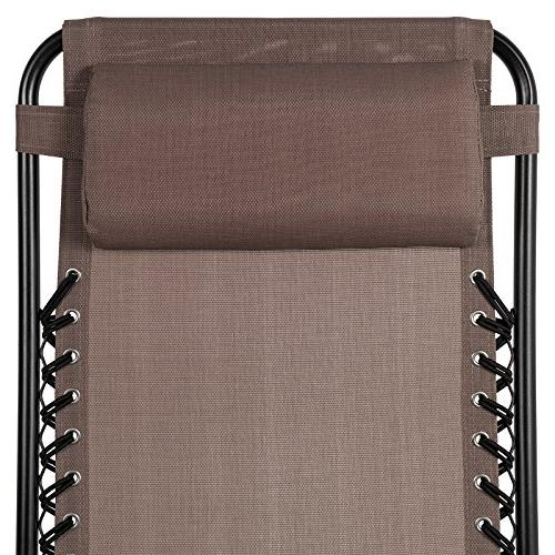 Best Choice Products Gravity Recliners for Holders Brown