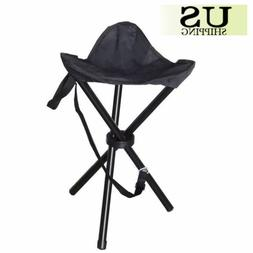 LARGE Slacker Chair Folding Portable Travel Tripod Stool Out