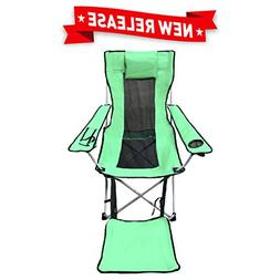 EasyGO Products Leg Rest Camping Chair - Lightweight, Foldab