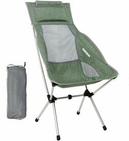 MARCHWAY Lightweight Folding High Back Camping Chair, Headre