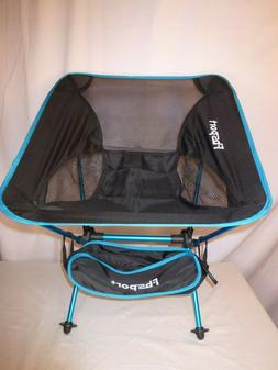 lightweight portable compact folding camping chair blue