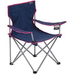 BUNDOK  lounge chairs Navy ~ Pink BD-187NP