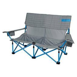 Kelty Low-Love Mesh Camp Chair, Smoke/Paradise Blue